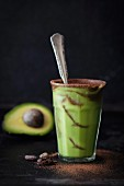 An avocado and chocolate smoothie