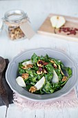Pear Walnut Salad with Honey Mustard Dressing