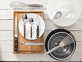 Kitchen utensils for making spinach biscuits