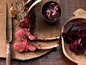 Venison with beetroot
