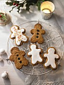 Gingerbread men biscuits