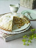Gooseberry Almond Pie
