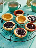 Apricot, Raspberry and Stawberry Jam Tarts
