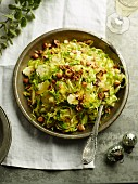 Stir fried sprouts in cider
