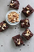 Brownies with cashew nuts