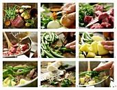 Rindereintopf mit grünen Bohnen zubereiten