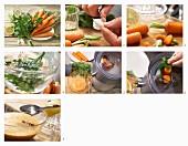 Abwehr-Saft mit Möhren, Petersilie und Zitrone zubereiten