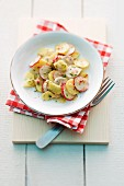Bavarian potato salad with radish