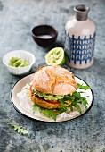 Vegan Chickpea Corn Burger