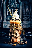 Halloween freakshakes with Locusts, Mealworms, Queen Leafcutter Ants Mopane Worms