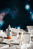 Space themed cake toppers