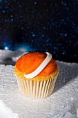 Space themed cupcake