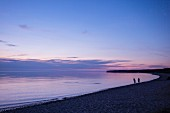 A beach at dusk on the island of Öland in southern Sweden