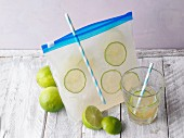 Lemonade to go in a freezer bag