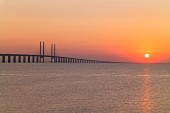 The world's longest cable-stayed bridge, the Öresund Bridge, linking Copenhagen and Malmö
