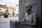A bust of Astrid Lindgren in southern Sweden