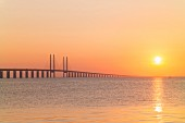 The world's longest cable-stayed bridge, the Öresund Bridge, which links Copenhagen and Malmö