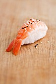 Nigiri Sushi wiht Shrimp and sesame