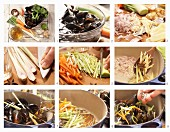 Miesmuscheln in Asia-Aromen gedünstet mit Thai-Ingwer, Sternanis und Gemüse zubereiten