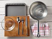 Kitchen utensils for preparing prawns