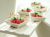 Wasabi Espuma with tuna and wasabi tobiko