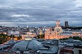 Blick von der Rooftop-Bar 'The Balcony' des Hotels Innside Madrid Suecia, Madrid, Spanien