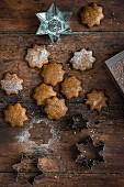 Glutenfreie vegane Lebkuchenplätzchen zu Weihnachten