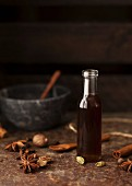 Masala chai syrup with star anise, cardamom and cinnamon
