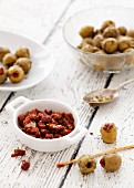 Olives stuffed with dried tomatoes