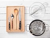 Kitchen utensils for making jelly