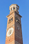 Tower of the Palazzo della Ragione in Verona, Italy