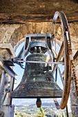 Bell tower of the Eremo San Giorgio monastery in Bardolino, Italy
