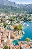 View from Monte Oro of Riva del Garda, Italy