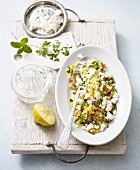 Couscous salad with feta cheese (low lactose)