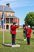 The changing of the guards on Officers' Square in Fredericton, Canada