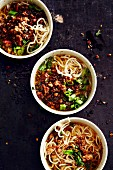 Chinese Dan Dan noodles with pork mince (soul food)