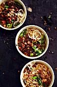 Chinesische Dan Dan Noodles mit Schweinehackfleisch (Soulfood)