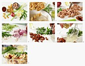 Nudelsalat mit Thunfisch, getrockneten Tomaten und Rauke in Zitrusvinaigrette zubereiten