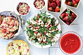 Various strawberry dishes