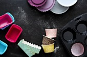 Various cake tins and moulds for mini cakes