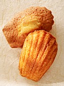 Two madeleines (view from above)