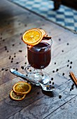 Mulled wine with tequila