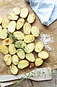 Rosemary potatoes with coarse salt