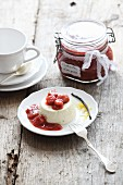 Lavender pannacotta with rhubarb compote for Easter