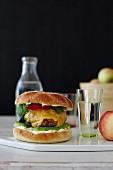 Classic burger avocado cheese chipotle mayo