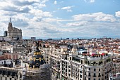 View from the rooftop terrace of the Circulo de Bellas Artes in Madrid, Spain
