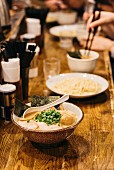 Ramen soup in a restaurant (Japan)
