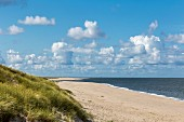 The beach on the Ellenbogen part of the island of Sylt, Germany