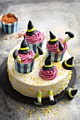 'Wicked Witch' cake with white chocolate and buttercream