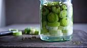 Fermented leek with green pepper